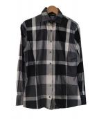 BLACK LABEL CRESTBRIDGE(ブラックレーベル・クレストブリッジ)の古着「チェックシャツ」|グレー×ブラック