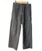 CUSHMAN(クッシュマン)の古着「ブラックシャンブレーコットンパンツ」|ブラック