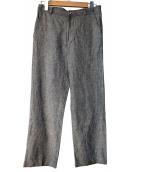 Frank Leder(フランクリーダー)の古着「リネン混パンツ」|ネイビー