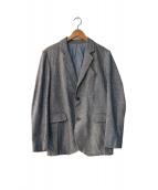 Frank Leder(フランクリーダー)の古着「リネン混ジャケット」|ネイビー