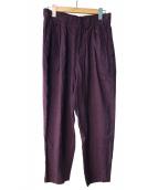 Dulcamara(ドゥルカマラ)の古着「リネン混タックパンツ」|パープル