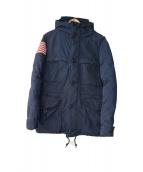 Denim & Supply Ralph Lauren(デニムアンドサプライ ラルフローレン)の古着「星条旗ダウンコート」|ネイビー