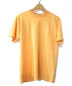 A BATHING APE(ア ベイシング エイプ)の古着「ポケットTシャツ」|オレンジ