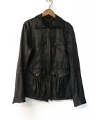 sissi(シシ)の古着「レザージャケット」 ブラック