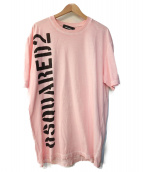 DSQUARED2(ディースクエアード)の古着「プリントTシャツ」 ピンク