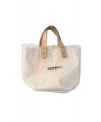 TEMBEA(テンベア)の古着「ビニールトートバッグ」|ベージュ