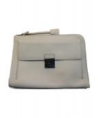 DOLCH&GABBANA(ドルチェアンドガッバーナ)の古着「レザークラッチバッグ」|ホワイト
