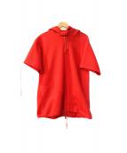 Engineered Garments(エンジニアードガーメン)の古着「半袖パーカー」|レッド