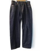 TCB jeans(ティーシービージーンズ)の古着「セルビッジストレートデニムパンツ」|インディゴ