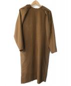 VERMEIL par iena(ヴェルメイユ パー イエナ)の古着「千鳥マトンスリーブワンピース」 ブラウン
