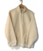 BEAUTY&YOUTH(ビューティアンドユース)の古着「ボアハーフジップレイドネックスウェット」|ホワイト