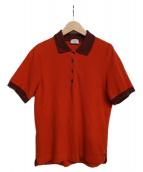HERMES(エルメス)の古着「セリエボタンポロシャツ」|オレンジ