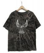 HARLEY-DAVIDSON(ハーレーダビットソン)の古着「絞りイーグルプリントTシャツ」|ブラック