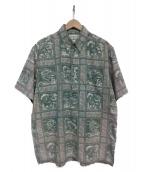 reyn spooner(レインスプーナー)の古着「アロハシャツ」|グリーン