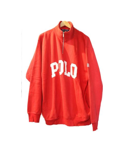 POLO SPORT(ポロスポーツ)POLO SPORT (ポロスポーツ) ハーフジップスウェット レッド サイズ:Mの古着・服飾アイテム