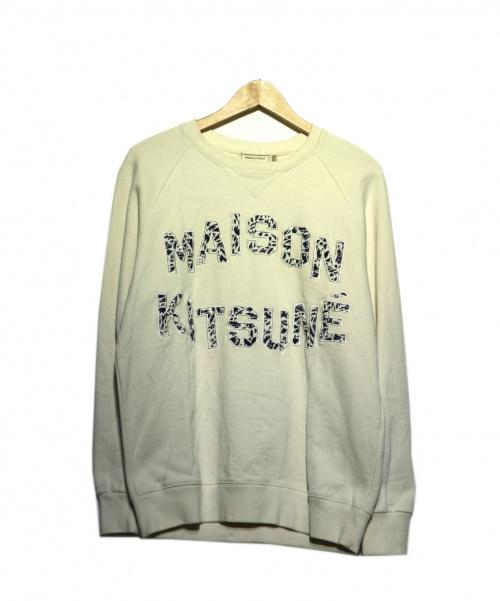 MAISON KITSUNE(メゾンキツネ)MAISON KITSUNE (メゾンキツネ) クルーネックスウェット ホワイト サイズ:Mの古着・服飾アイテム