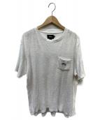 stussy(ステューシ)の古着「パイル地Tシャツ」|ホワイト