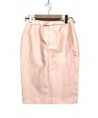 GUCCI(グッチ)の古着「シルクスカート」|ピンク
