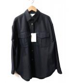 TICCA(ティッカ)の古着「ダブルポケットシャツ」|ネイビー