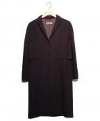 JIL SANDER(ジルサンダー)の古着「ウールカシミヤコート」|ボルドー