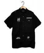 UNDERCOVER(アンダーカバー)の古着「S/Sミリタリーシャツ」|ブラック