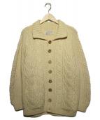 INVERALLAN(インバーアラン)の古着「アランニットカーディガン」|アイボリー