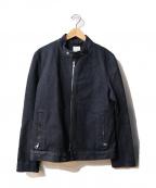 BLUE WORK(ブルーワーク)の古着「スタンドカラーデニムジャケット」 インディゴ