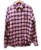 Supreme(シュプリーム)の古着「ハートチェックシャツ」|ピンク×ブラック