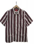 Supreme(シュプリーム)の古着「ストライプシャツ」|ボルドー×ホワイト
