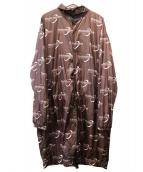 BLACKEYEPATCH(ブラックアイパッチ)の古着「ロングナイロンジャケット」|ブラウン