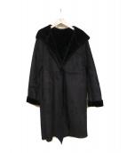 Demi-Luxe BEAMS(デミルクスビームス)の古着「フェイクムートンコート」 ブラック