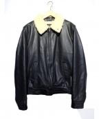 A.P.C(アーペーセー)の古着「ムートンフライトジャケット」|ブラック