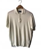 Drumohr(ドルモア)の古着「リネンニットポロシャツ」|ホワイト