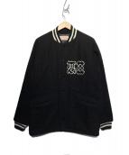 TENDERLOIN(テンダーロイン)の古着「メルトンスタジャン」 ブラック