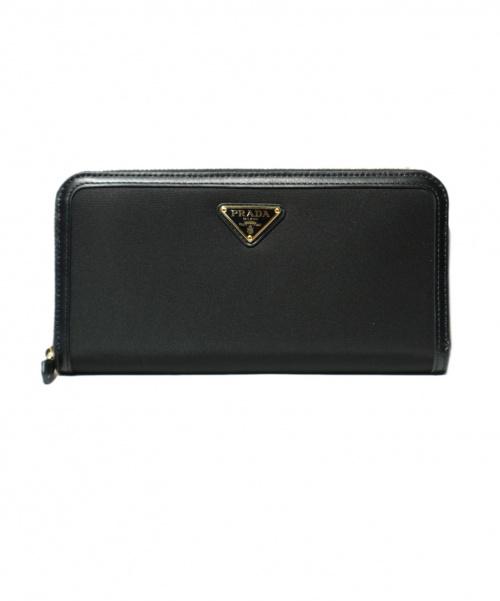 PRADA(プラダ)PRADA (プラダ) tessuto triango 財布 ブラック 1ML506  85の古着・服飾アイテム