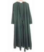 AKTE(アクテ)の古着「ラップロングワンピース」|グリーン