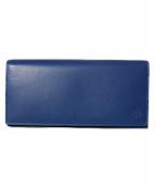 Dubeige(ドゥベージュ)の古着「かぶせ型長財布」|ブルー