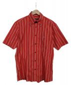 BURBERRY BLACK LABEL(バーバリーブラックレーベル)の古着「半袖シャツ」|レッド