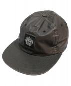 SUPREME×STONE ISLAND(シュプリーム×ストーンアイランド)の古着「HEAT REACTIVE 6 PANEL CAP キャップ」|オリーブ