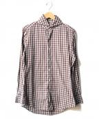 finamore(フィナモレ)の古着「チェックシャツ」 レッド×ホワイト