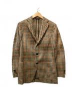 Belvest(ベルベスト)の古着「3Bチェックジャケット」|ベージュ
