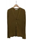 BEAUTY&YOUTH(ビューティーアンドユース)の古着「アイレットリブニットカーディガン」|オリーブ
