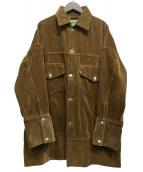WESTOVERALLS(ウエストオーバーオールズ)の古着「899B CORDUROY BIG TRACKER JKT」|ブラウン