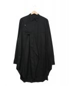 JULIUS(ユリウス)の古着「DIVIDED SHIRT」 ブラック