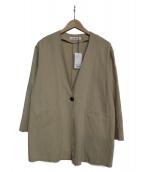 URBAN RESEARCH(アーバンリサーチ)の古着「製品洗いVネックシャツジャケット」 ベージュ
