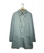 Paul Stuart(ポールスチュアート)の古着「スナップステンカラーコート」|ブルー