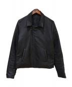 LAD MUSICIAN(ラッドミュージシャン)の古着「中綿ライダースジャケット」|ブラック