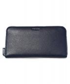 PRADA(プラダ)の古着「Saffiano leather long wallet」|ネイビー