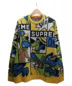 Supreme(シュプリーム)の古着「CARTOON SWEATER ニット」|イエロー