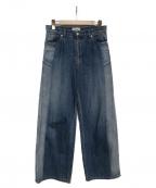 SERGE de bleu(サージ デ ブルー)の古着「サンバーンワイドデニムパンツ」|インディゴ